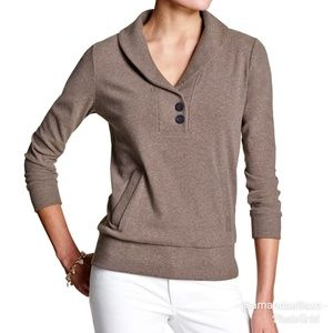 Banana Republic Luxe Pull Over Button Down Jumper